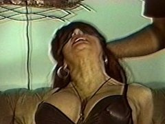 Whitney in black leather gets bound and panel ball gagged