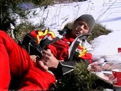 Masturbating hot guy gay Roma Smokes In The Snow