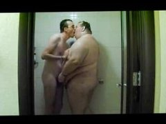 Two chubs on the shower