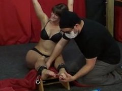 Tickle Challenger Kaylee foot tickle