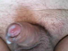Small Cock cum play piss