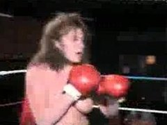Topless boxing battle