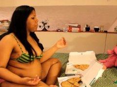 bbw ebony lexi venom burping belly stuffing