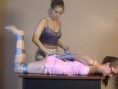 Girl duct taped and gagged by your girlfriend