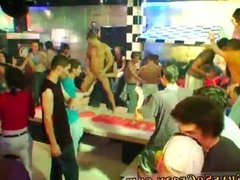 Party boy does a striptease and groups