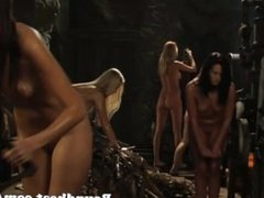 Bunch Of Lesbian Girls Tied Up And Whipped