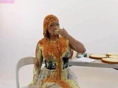 French maid self sploshing