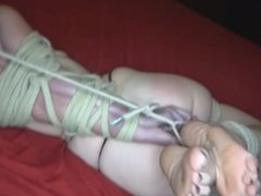 Babysitter abused and hogtied tight