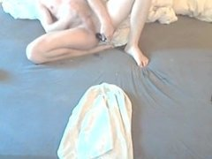 Playing with dildo in my ass and cumming on skype for (ex-)Mistress