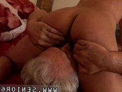 Teasing old man and fat old woman fuck