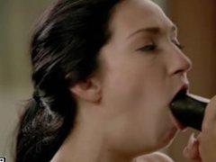 Crystal Rae Tasting Big Black Cock