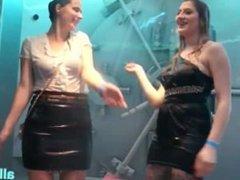 Trashy Euro sluts at bath dance celebration