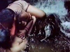 Mallu Aunty under waterfalls