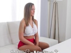 CastingCouch-X - Hot new girl Layla London at her first audition