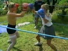 real school girl boxing fight