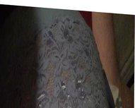 Wife in blue panties