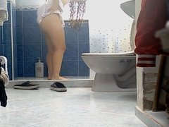 Perfect Ass Latin Teen Shower Spy - Edited Repost
