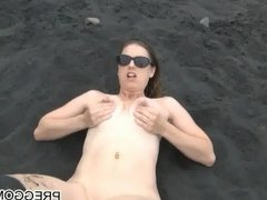 squrting breastmilk on the beach preggomilky.com