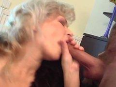 TV Repairman Seduced By Busty Blonde Horny Gr