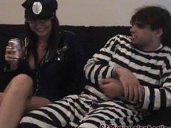 Burping on her Prisoner