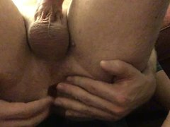 Anal training with cumshot
