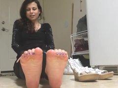 Foot Model - Brunette Foot Sexy