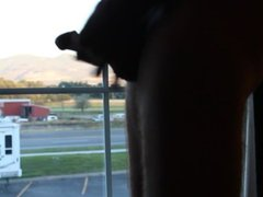 hotel window stroking