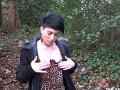 Amateurs public blowjob and flashing Charlies outdoor oral sex in wild home