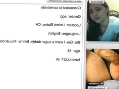 More testicle squeezing on webcam