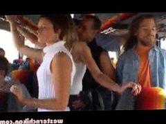girl in white groped on bus