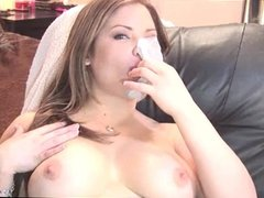 Topless Bubble gum Blowing #2