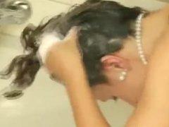 Anja-Forward hair washing