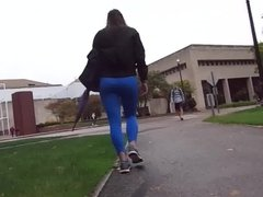 Spandex Juicy Ass College Girl!