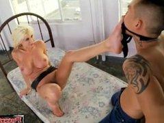 Big tits slave hardcore with cumshot