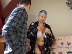▶ Granny Savana fucked with really hard stick...