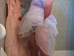 prom dress pee