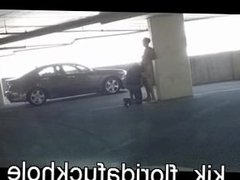 FloridaFuckHole sucked and rimmed in public garage