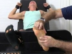 Massage gay porn boy Cristian Tickled In The Tickle Chair