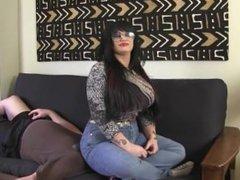 Goddess Samantha jeans facesit