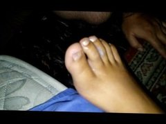 Hard fucking her toes