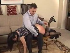 Brat Gets Her Dress Raised and Pantties Pulled Down