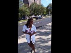 Black Woman Flashing In Public