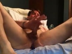 Straight Guy Plays with His Hole on Webcam