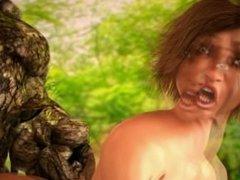 Green Swamp Monster Fucks Anime Girl