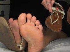 Sandals Teasing foot joi