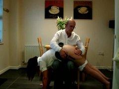 Sassy wife spanked