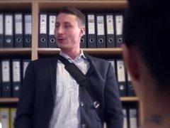 Bums Buero - German secretary enjoys a raunchy office fuck with her boss