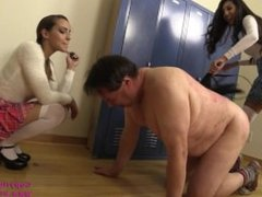 Brutal Whipping of Janitor by Mean Brat Princess