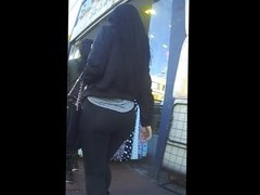 Super PYT Candid Jiggly Booty in Black Leggings