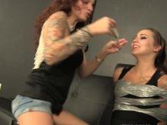 Tickling gagged Sasha Fox